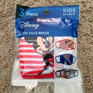 Disney Mickey Face Coverings, 3-Pack